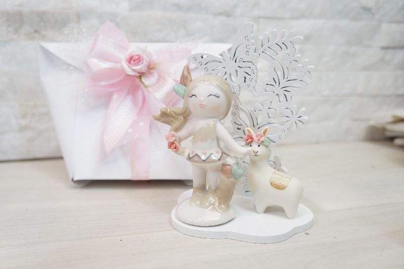 Bomboniere Claraluna - Indiana Girl E Alpaca In Porcellana ...