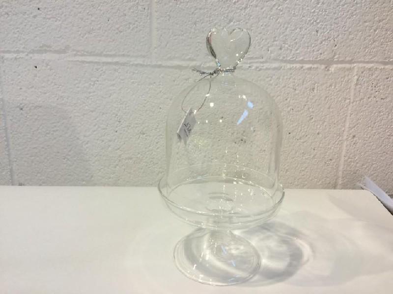Cristallo E Vetro - Alzatina In Vetro Cuore Diam 9x17cm ...