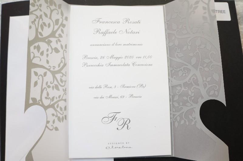 Partecipazioni Matrimonio Claraluna.Partecipazioni Partecipazione Claraluna Con Albero Della Vita E